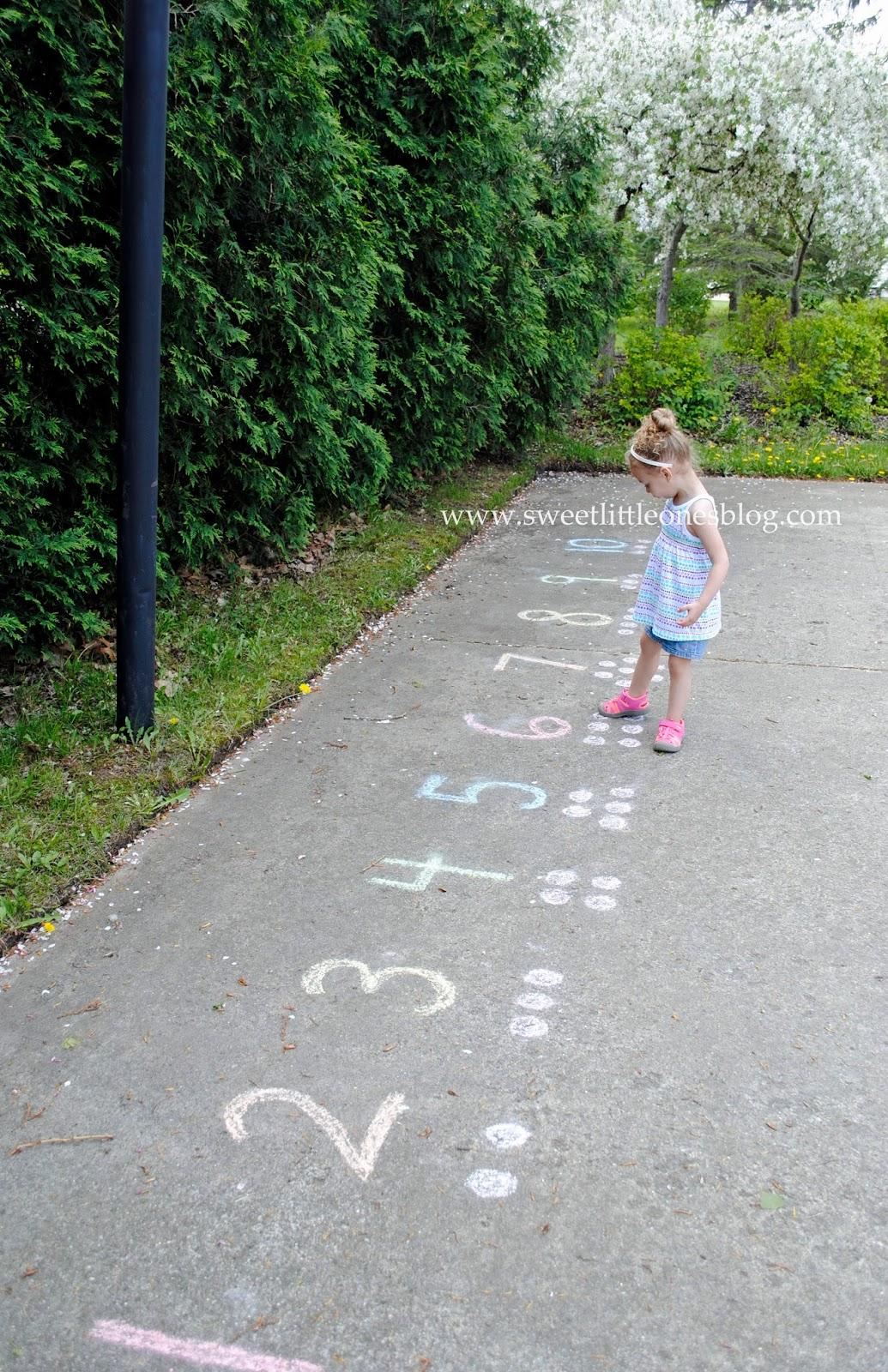 sweet little ones sidewalk chalk fun 45 games and activities