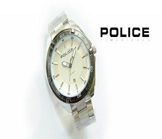 jam tangan keren POLICE PL-155 WHITE