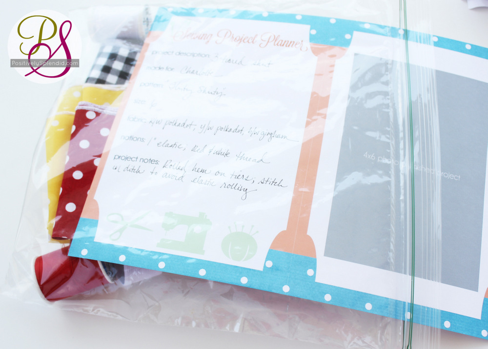 Sewing Project Planner Free Printable