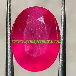 Batu Permata Pink Ruby Corundum