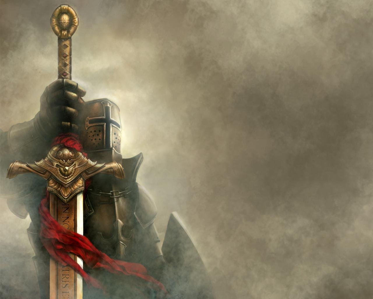 Knights  Warriors  Medieval Christian Crusaders Wallpaper