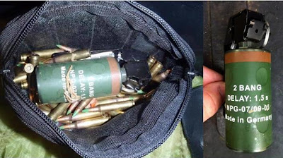 Live flash bang grenade was discovered in the checked baggage of a passenger at Northwest Florida Regional Airport (VPS).