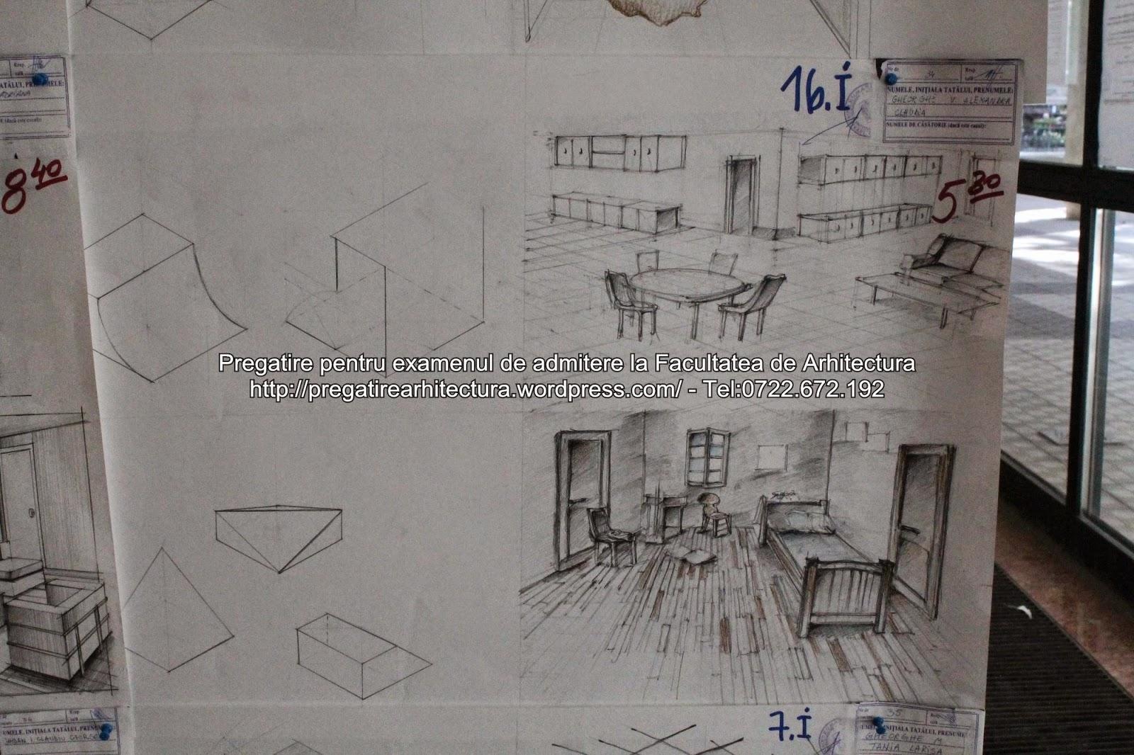 Pregatire Arhitectura Planse Examen Admitere Arhitectura