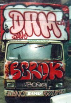 Graffitis Dam Berok camión