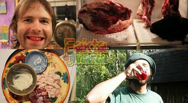 4 Orang di Dunia yang Hobi Makan Daging Mentah