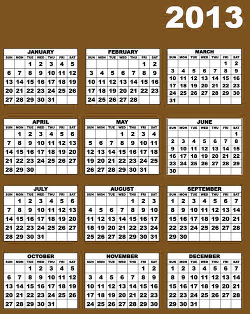 Calendar Year Q : Free printable calendar
