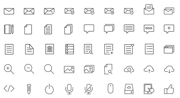 Free Retina Ready Icons (AI, PSD)