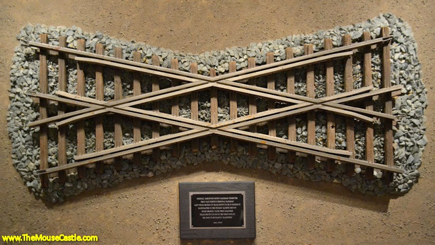Crossover track from the Carolwood Pacific Railroad