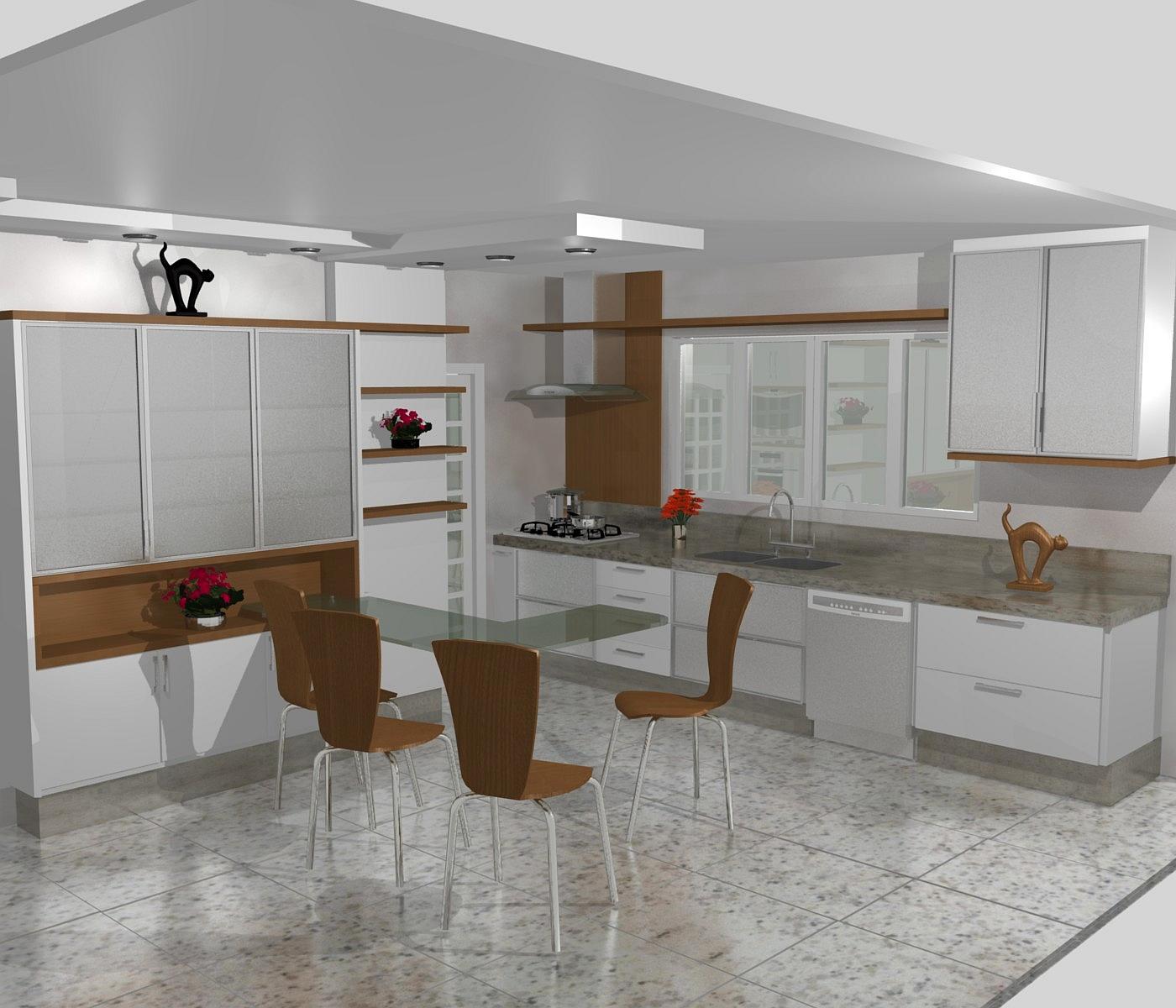 cozinha planejadas pequenas decorada americana modulada luxo moderna #64442D 1400 1200