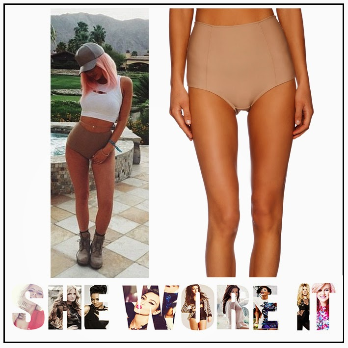Keeping up with the Kardashians, Kylie Jenner,  Love and Lemons, High Waisted, Nude, Pale Pink, Short, Panty's, Revolve Clothing