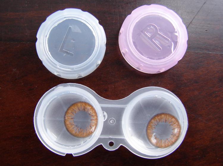 Review Klenspop Circle Lenses Bunny Color Brown.