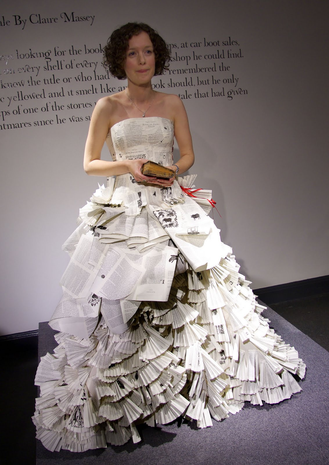 Dress Made From Book Pages