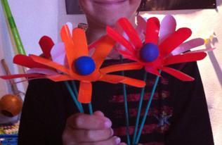 fabriquer fleur plastique