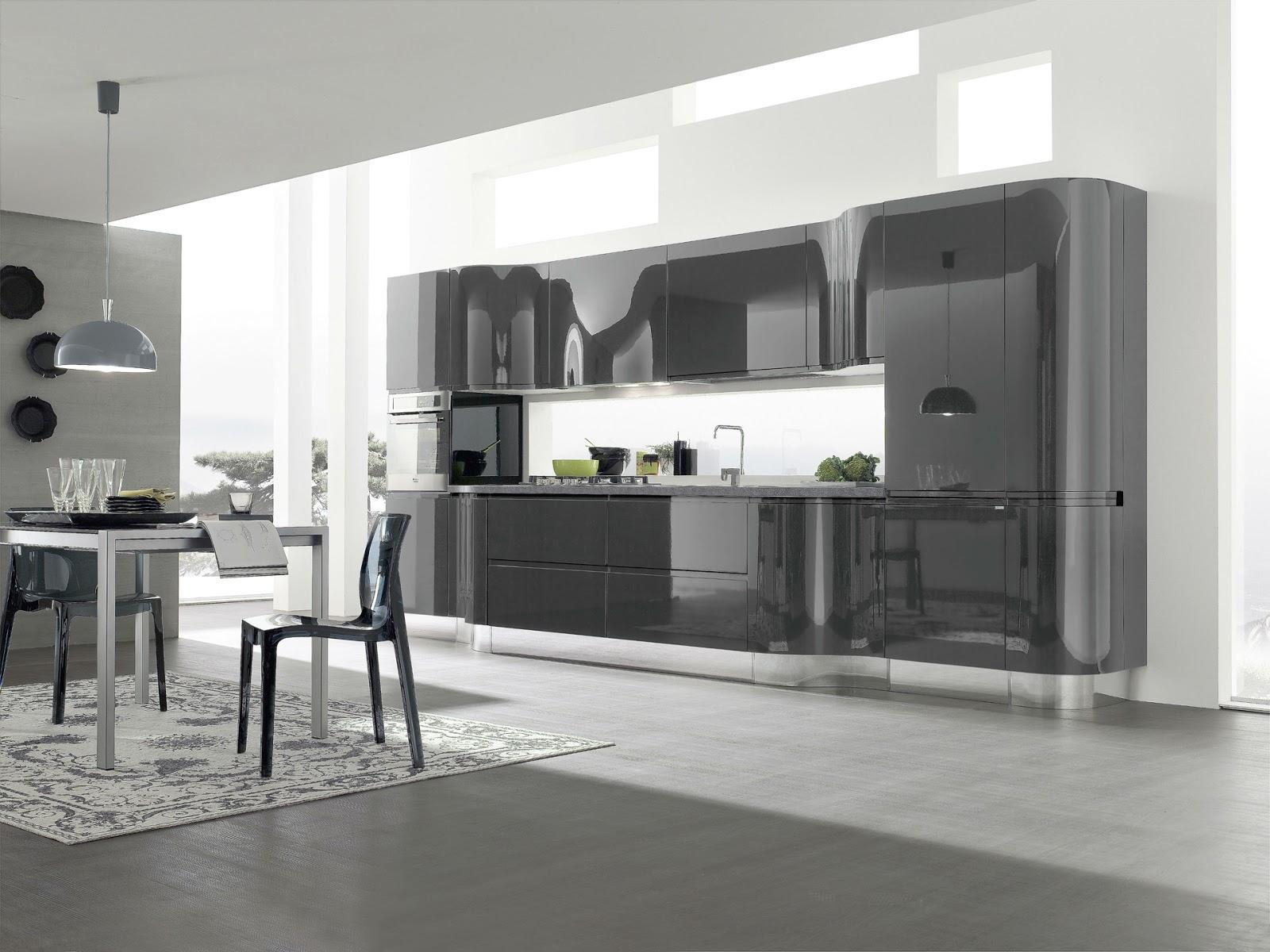 El acabado de la cocina brillo o mate cocinas con estilo for Cocinas con suelo gris oscuro