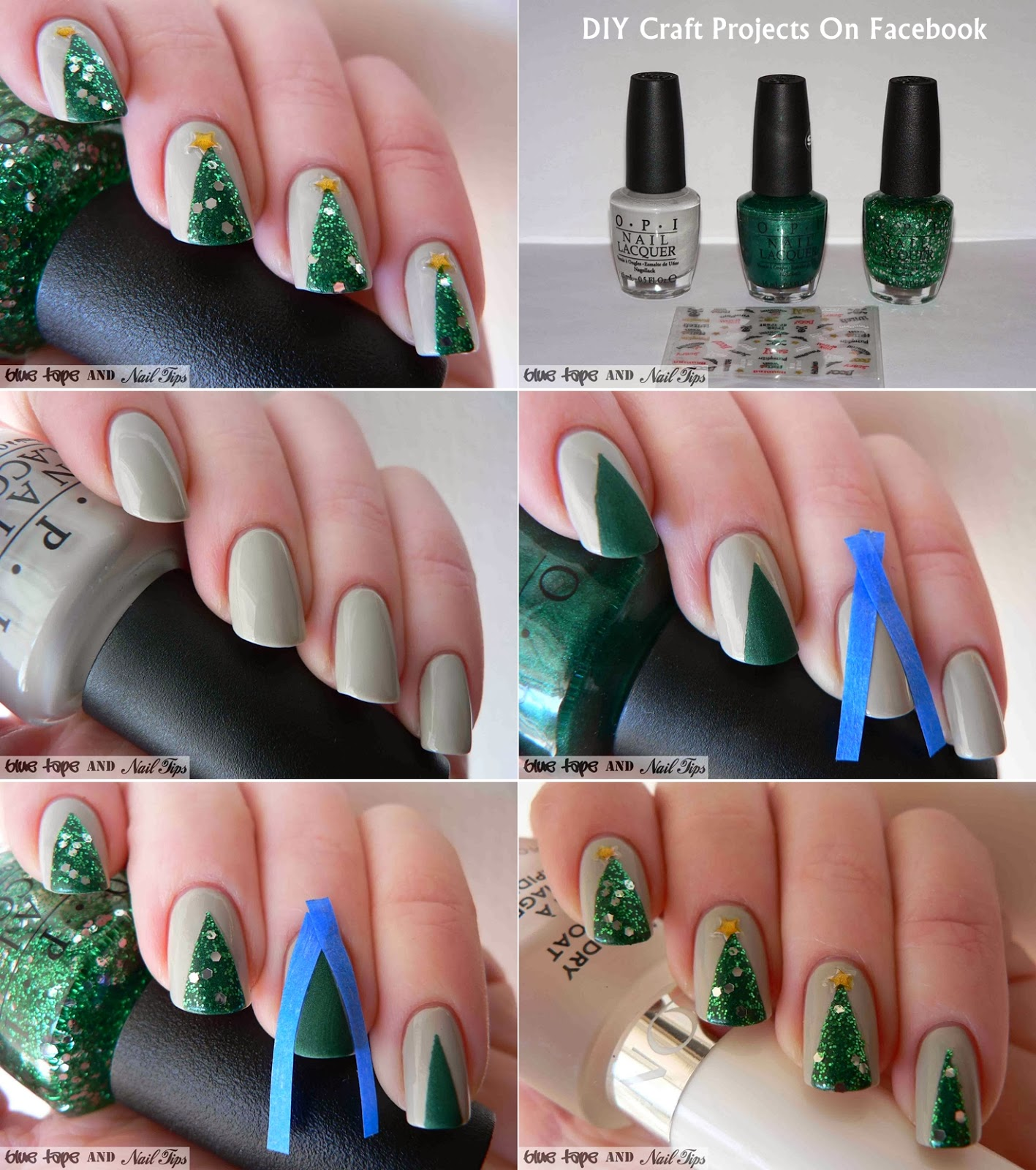 Christmas Nail Designs Tutorial: 15 Cutest Christmas Nail Art DIY Ideas