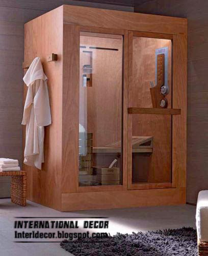 wood steam shower, shower cabins