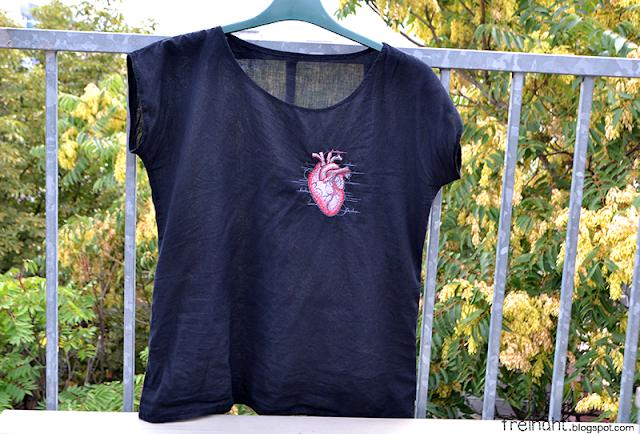 Shirt mit Herz | freinaht.blogspot.com