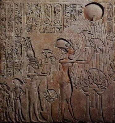 Akhenaten and Nefertiti image