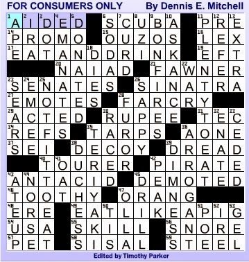 Usa Today Crossword Answers Apr 23 2014 Usa Today Crossword Puzzle