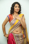 santoshini sharma photos in half saree-thumbnail-5