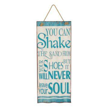 Shake Sand Sign
