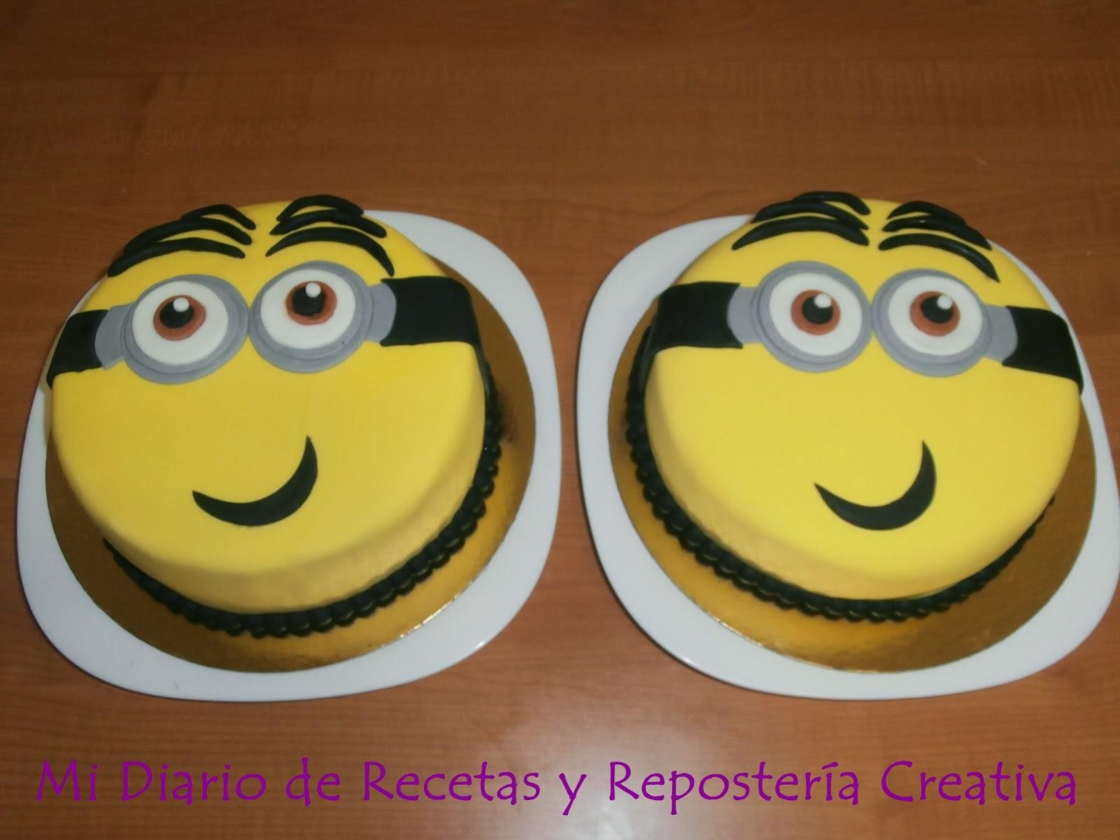 Mi diario de recetas y reposteria creativa tartas de minion - Ingredientes reposteria creativa ...