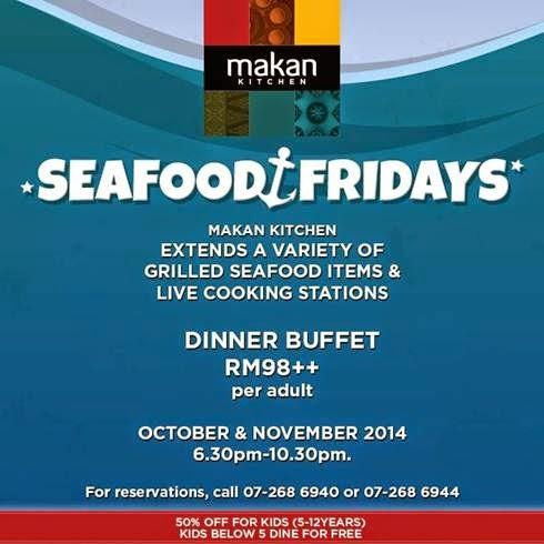 doubletree johor bahru makan kitchen seafood fridays