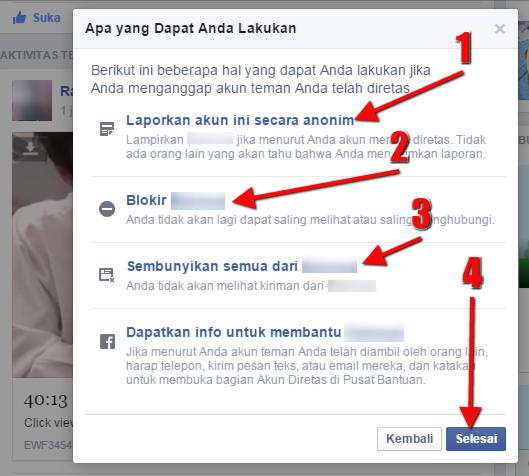 Cara Melaporkan SPAM Tautan Pornografi di Facebook - Step 4
