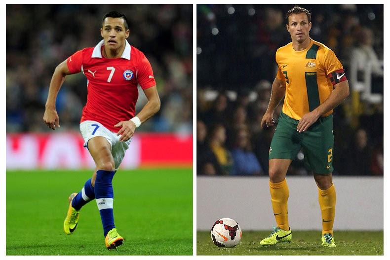 Chile vs Australia FIFA World Cup 2014 HD wallpapers