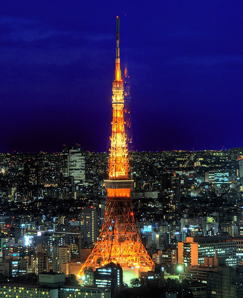 restaurants on the foot town of the tokyo tower tokyo tower japan