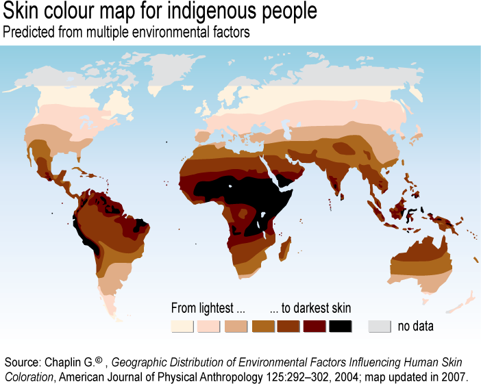 skin color Why do people from different parts of the world have different colored skin why do people from the tropics generally have darker skin color that those who live in.