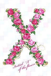 花のイニシャル「X」