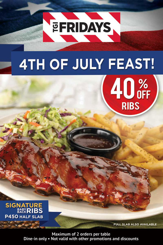 Davao Dining: TGI Fridays 4th of July Promo