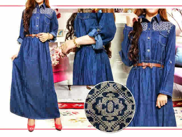 gamis jeans tamia