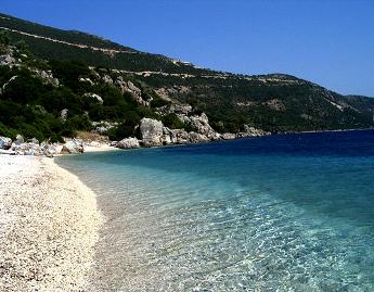 Playa en Ítaca - Islas Griegas
