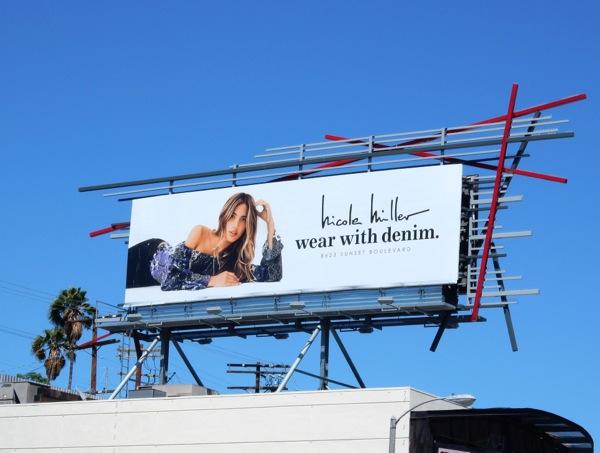 Nicole Miller Wear with denim billboard