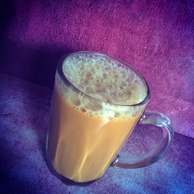 Teh Tarik, a milky tea sold widely in Singapore