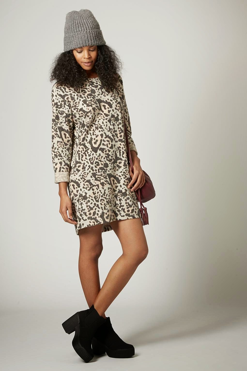 leopard jumper dress