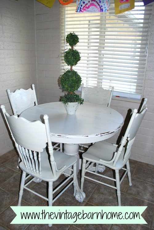 Another Dining Set Redo...Farm House Style!