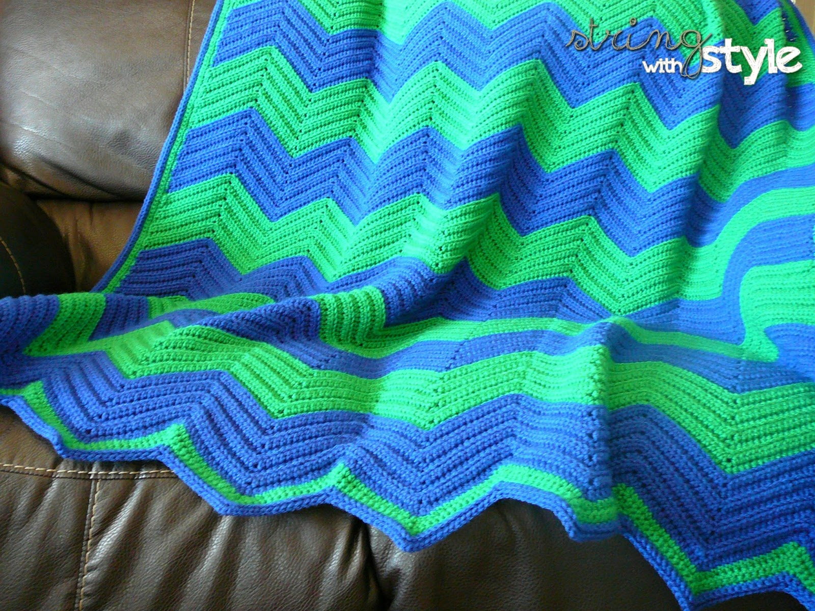 Crochet Stitches Chevron : String With Style: Chevron Love Afghan