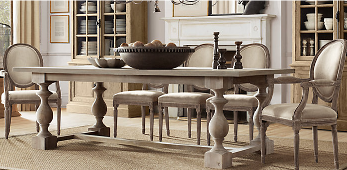 Restoration Hardware 17c Monastery Table In Grey Acacia A Great Table