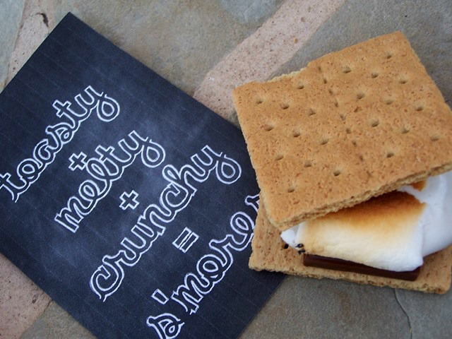 summer s'mores and printables