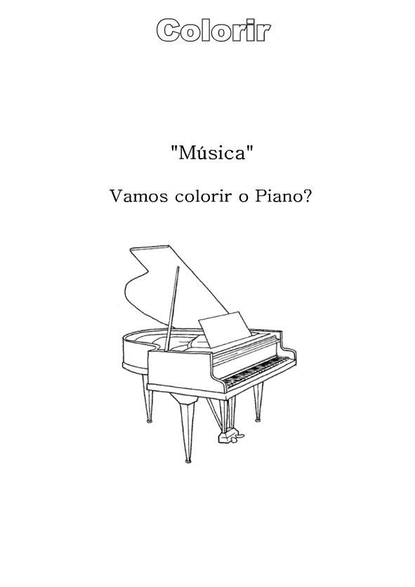 Desenhos Para Colori Violão Guitarra Piano Saxofone e Clarinetedesenhar