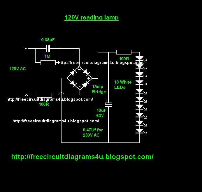 FREE CIRCUIT DIAGRAMS 4U: Night Lamp Circuit Diagram