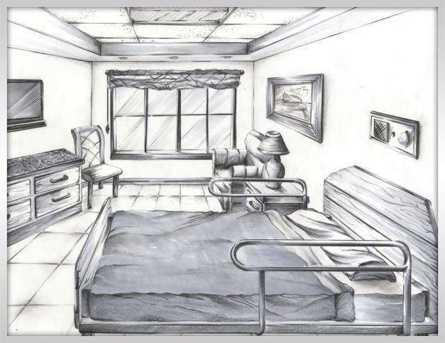 Foundation dezin decor sketch of bedroom for Interior design bedroom drawing