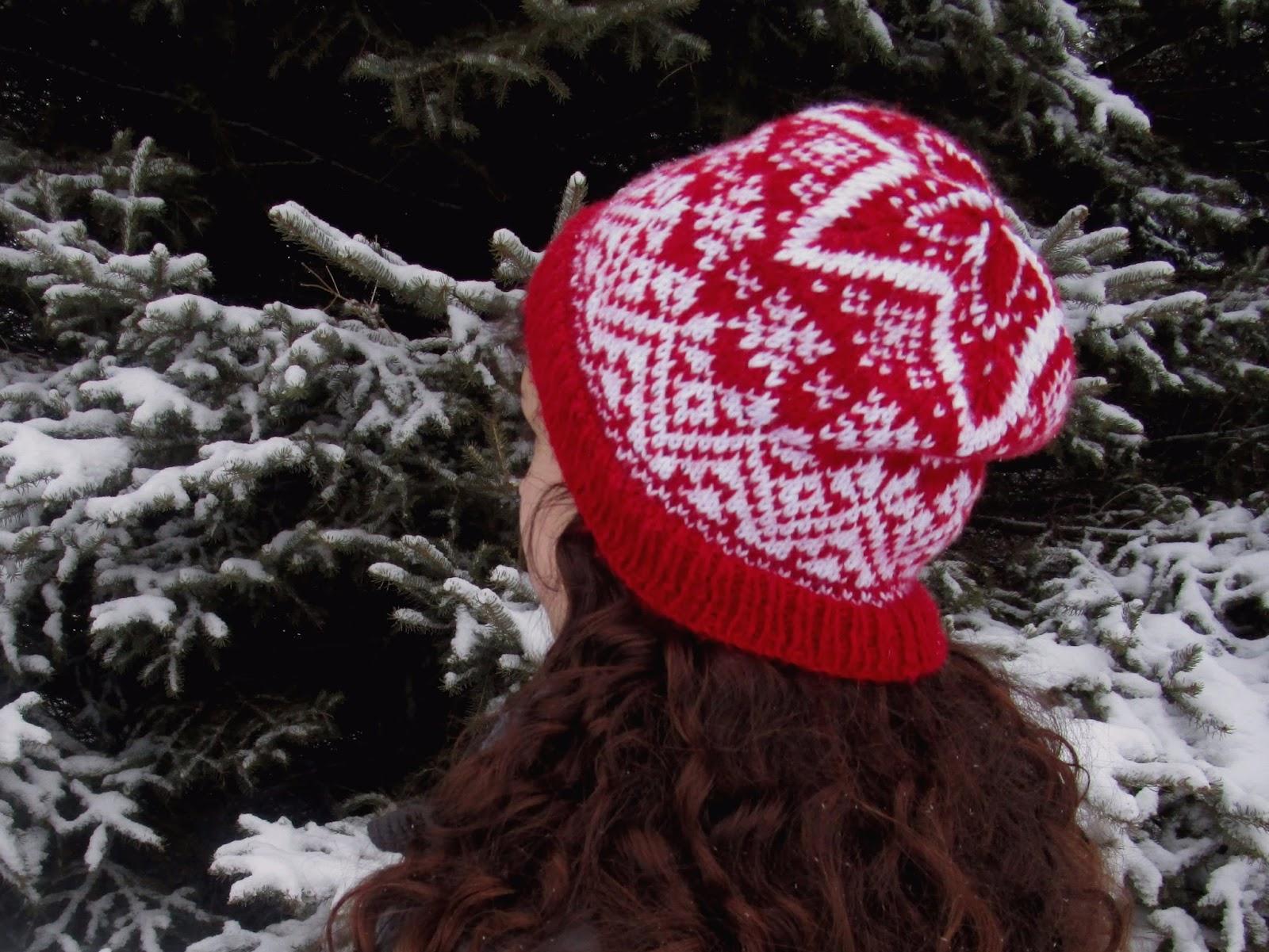 The Li\'l Hayseed Blog: Star of Winter free hat pattern