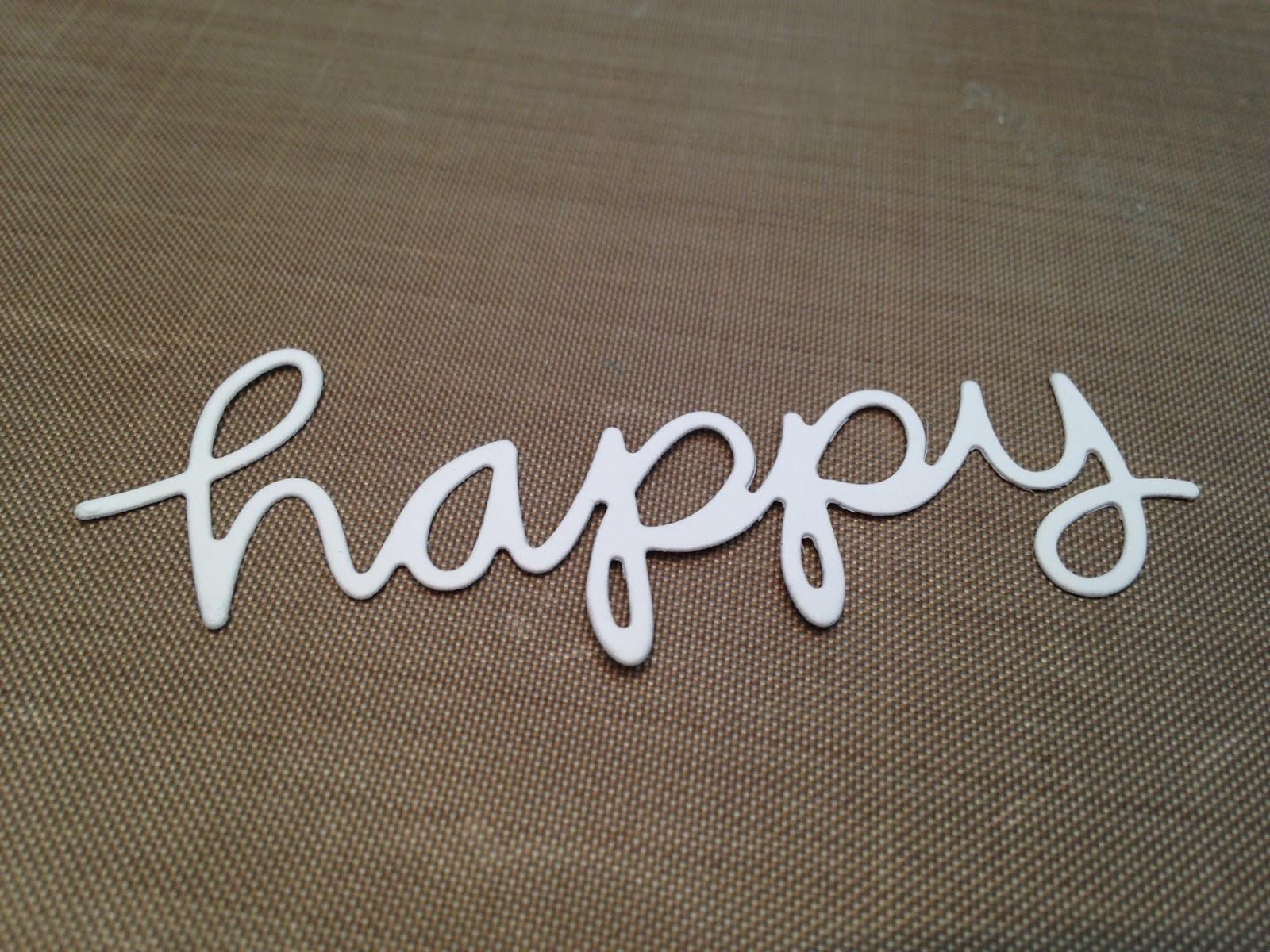 let s make a card amuse studio happy word die