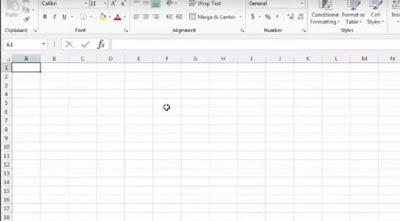 Tampilan Excel 2013