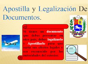 LEGALIZACIÓN Y APOSTILLADO DE DOCUMENTO: