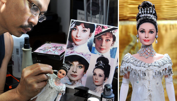 12-Audrey-Hepburn-Noel-Cruz-Hyper-Realistic-Make-up-on-small-Dolls-www-designstack-co